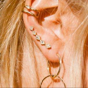 Luv AJ kite crawler style earrings